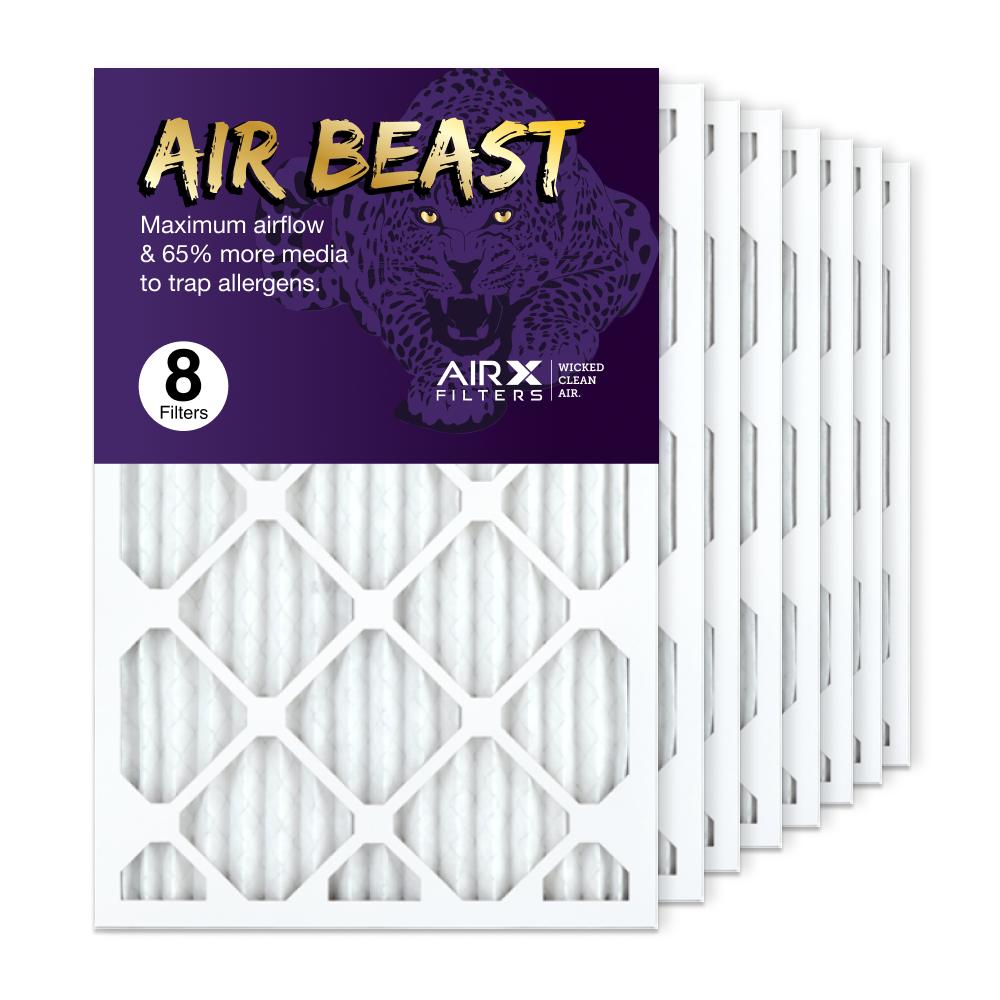 16x25x1 AIRx Air Beast High Flow Air Filter, 8-Pack