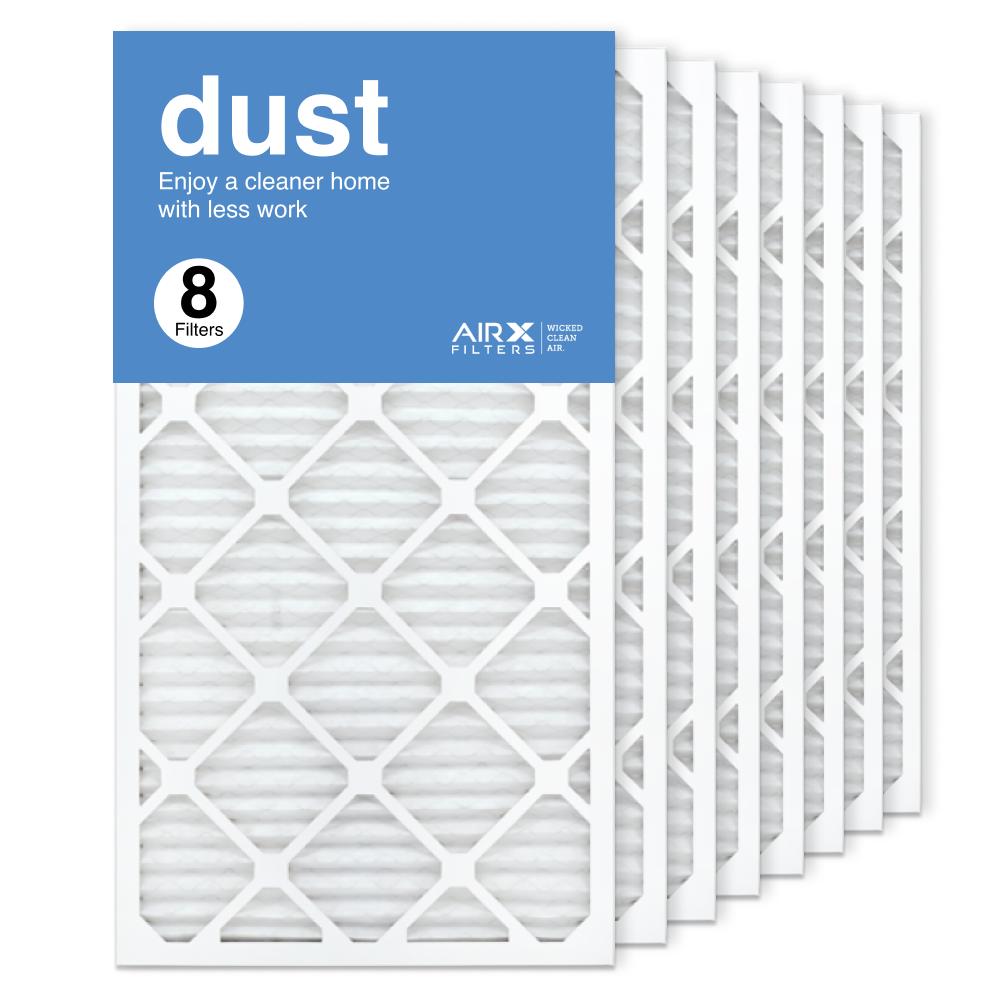16x30x1 AIRx DUST Air Filter, 8-Pack