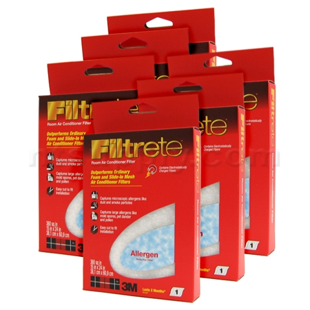 15 x 24 x 1 3M Filtrete Room Air Conditioner Filters - #9808