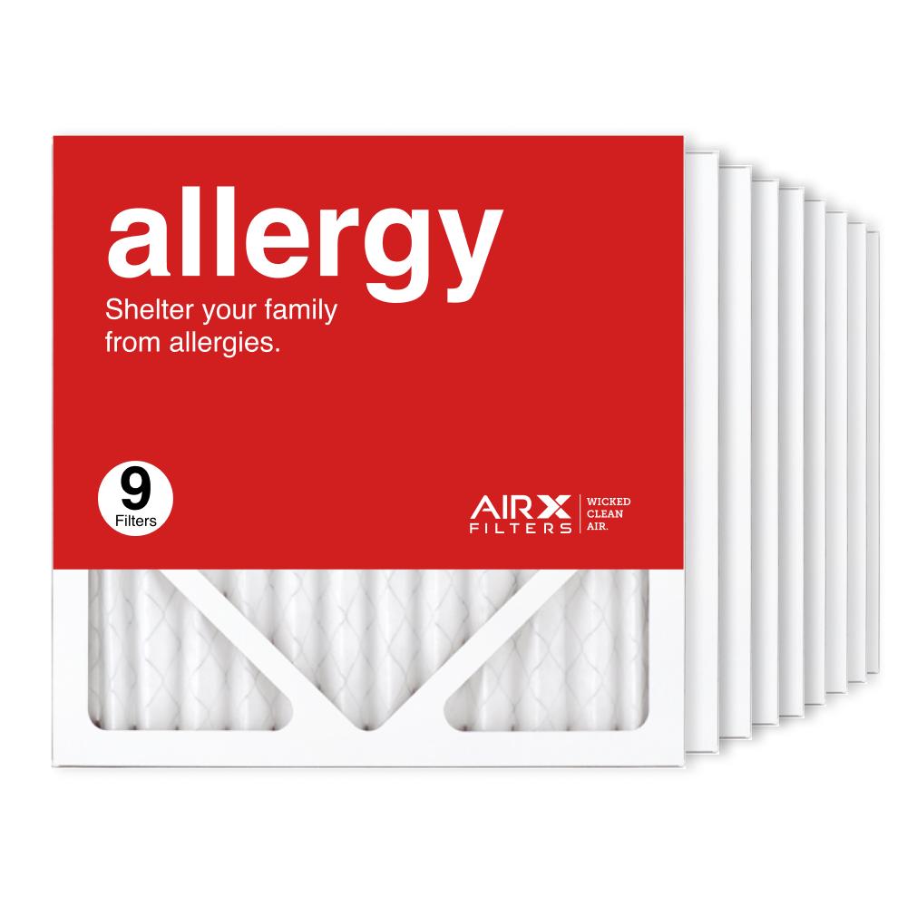 12x12x1 AIRx ALLERGY Air Filter, 9-Pack