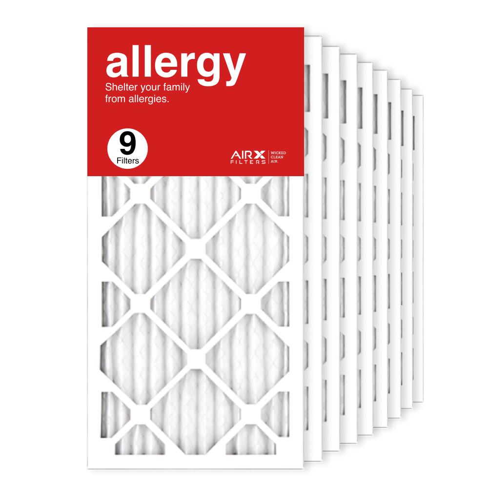 12x25x1 AIRx ALLERGY Air Filter, 9-Pack