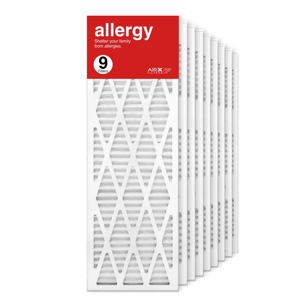 12x36x1 AIRx ALLERGY Air Filter, 9-Pack