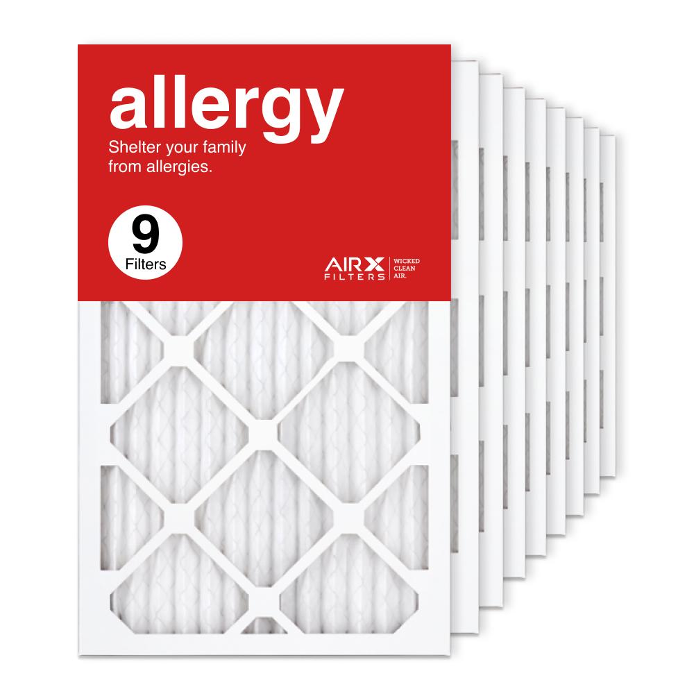 13x21.5x1 AIRx ALLERGY Air Filter, 9-Pack