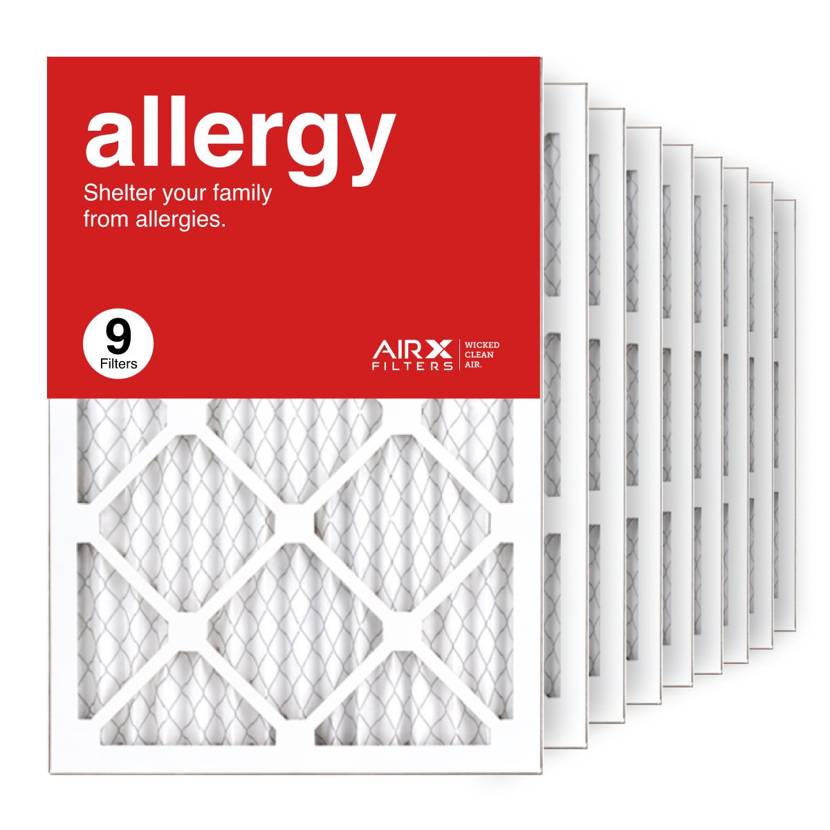 14x20x1 AIRx ALLERGY Air Filter, 9-Pack