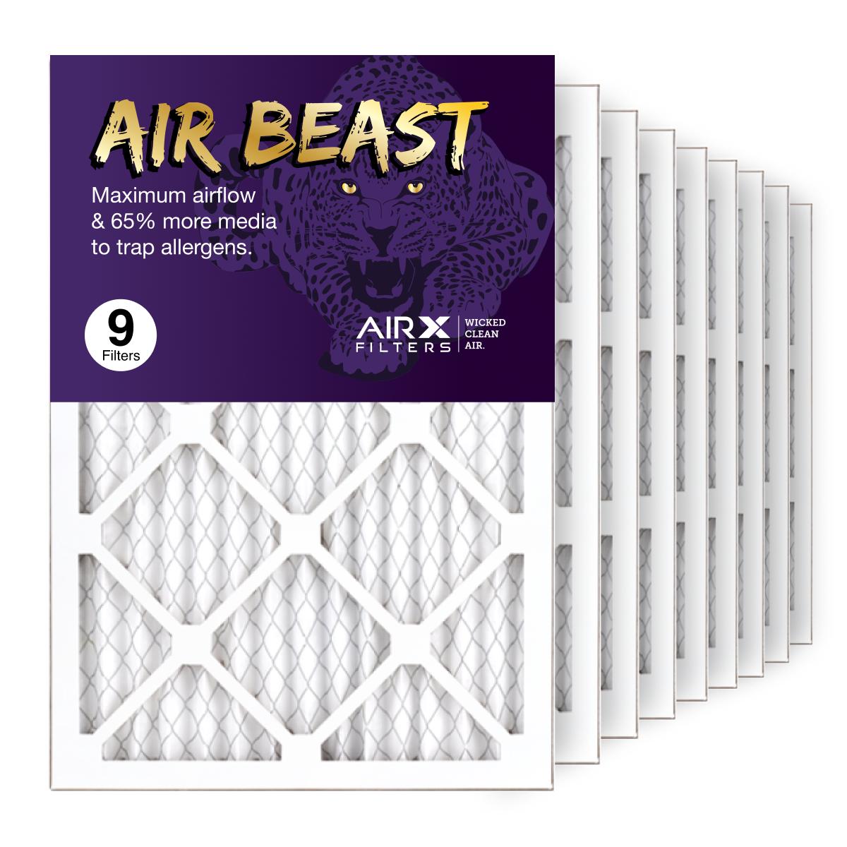 14x20x1 AIRx Air Beast High Flow Air Filter, 9-Pack