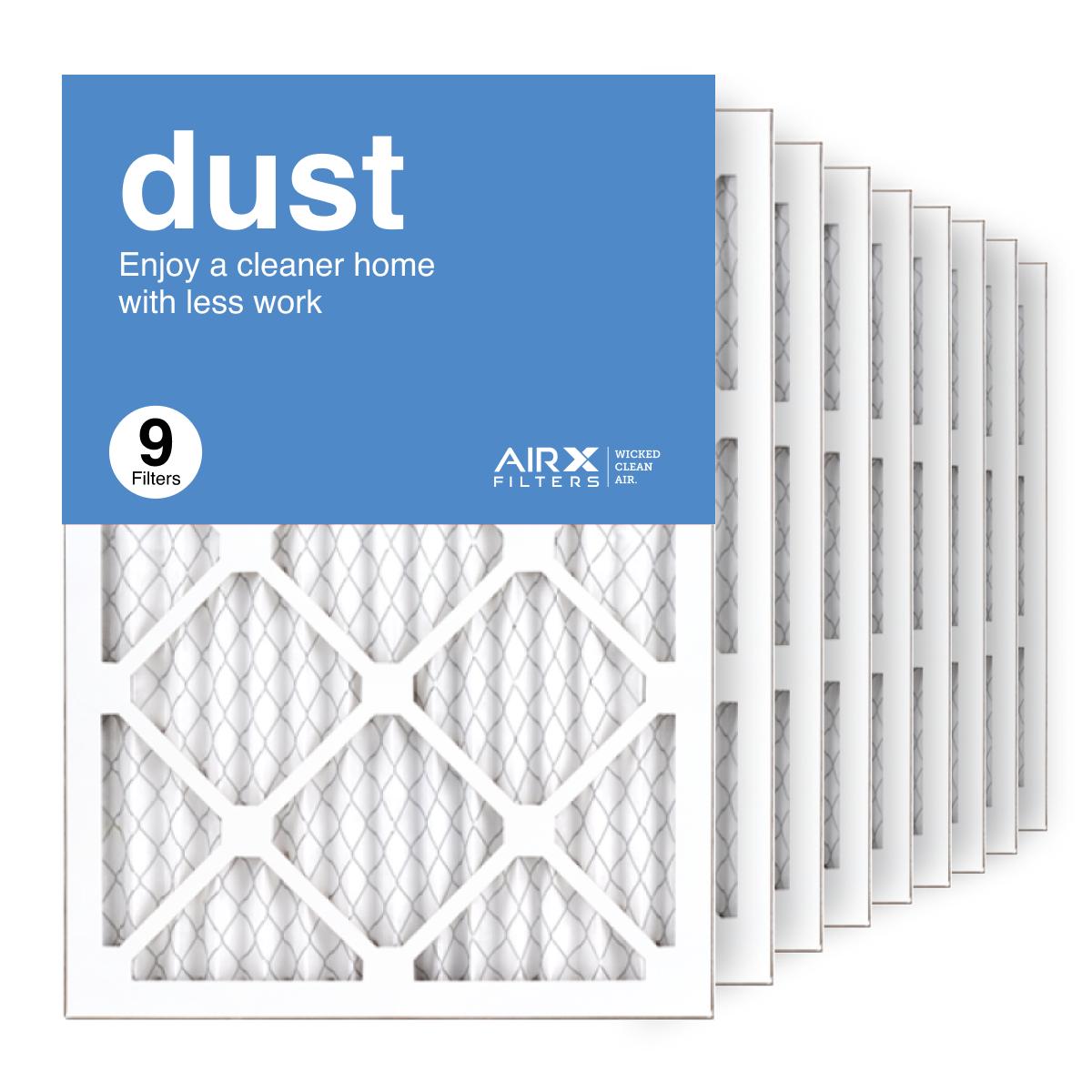 14x20x1 AIRx DUST Air Filter, 9-Pack