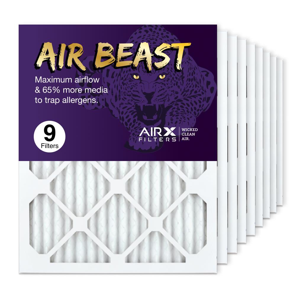 16x20x1 AIRx Air Beast High Flow Air Filter, 9-Pack