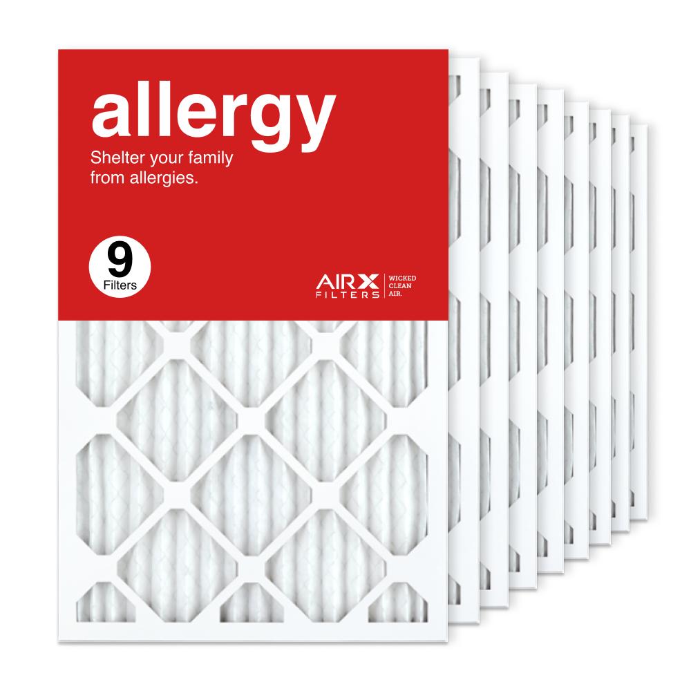 16x25x1 AIRx ALLERGY Air Filter, 9-Pack