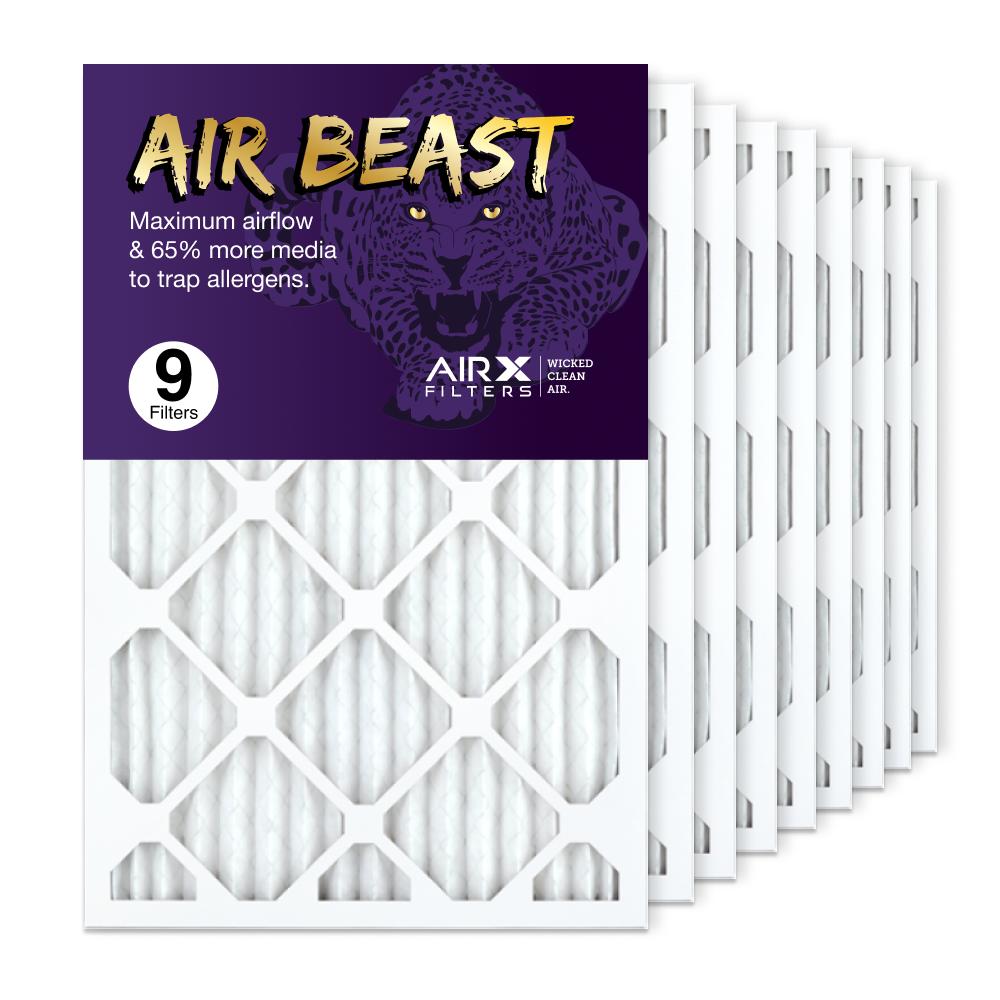 16x25x1 AIRx Air Beast High Flow Air Filter, 9-Pack