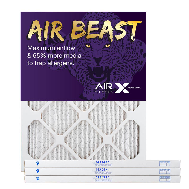 14x24x1 AIRx Air Beast High Flow Pleated Air Filter