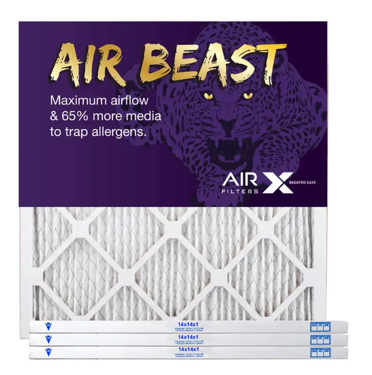 14x14x1 AIRx Air Beast High Flow Pleated Air Filter