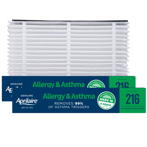 Aprilaire #216 MERV 16 Replacement Filter, 2-Pack