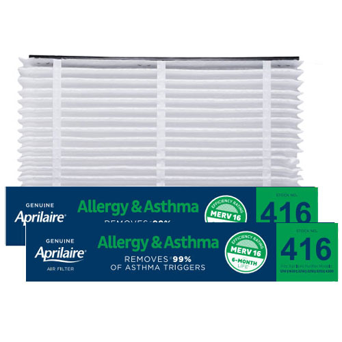 Aprilaire #416 MERV 16 Replacement Filter, 2-Pack