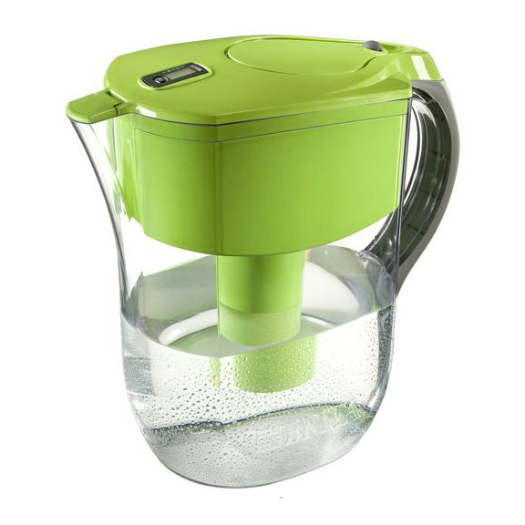 Brita Grand Green Filtered Water Pitcher