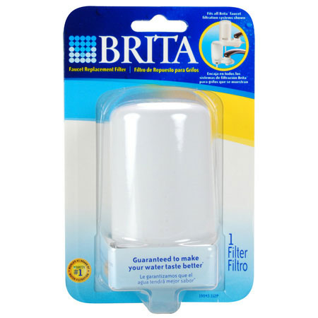 Replacement Filter for Brita On-Tap Basic Faucet System - White