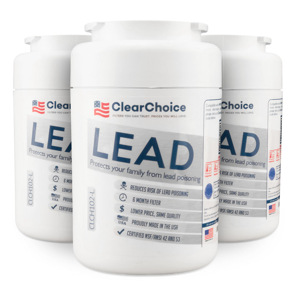 ClearChoice Replacement for GE MWF Filter -  Lead Reduction, 3-Pack