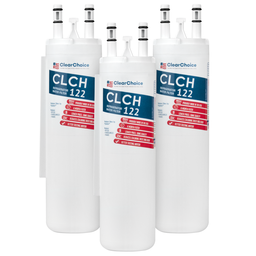 ClearChoice Replacement for WF3CB Refrigerator Water Filter, 3-Pack