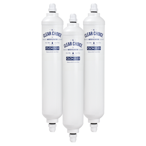 ClearChoice Universal Inline Water Filter, 3-Pack