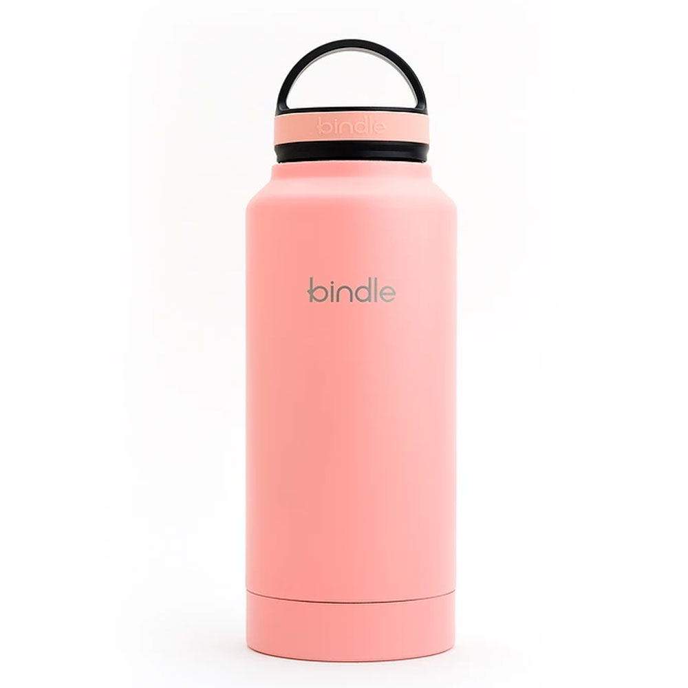 Bindle® Slim Stainless Water Bottle with Built-In Storage, Grey