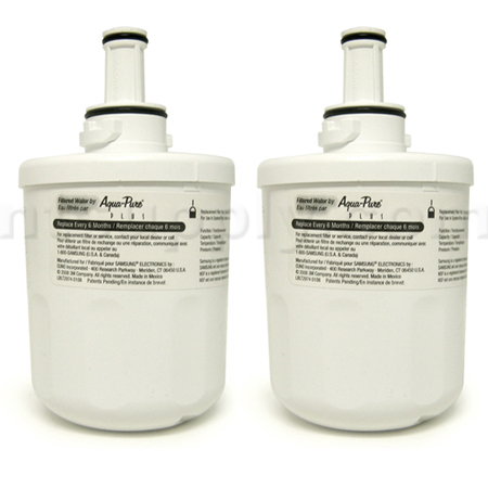 Samsung Aqua-Pure Plus Refrigerator Water Filter (DA29-00003F), 2-Pack