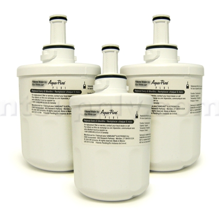 Samsung Aqua-Pure Plus Refrigerator Water Filter (DA29-00003F), 3-Pack