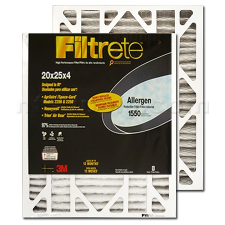 "Filtrete 4"" Allergen Reduction Filter - 20x25x4 # DP03DC"