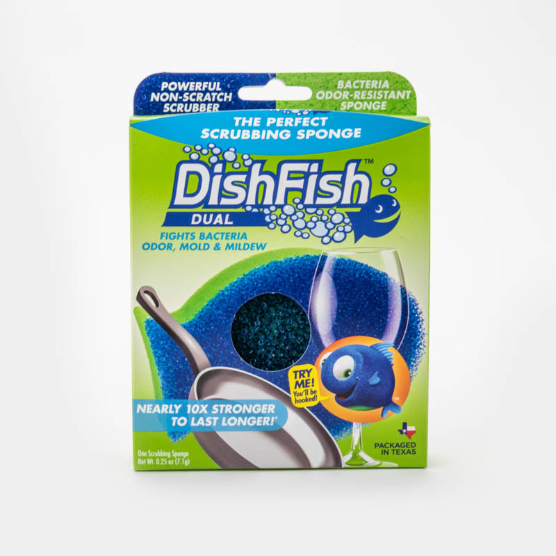 DishFish Dual - Antimicrobial Extreme Cleaning Sponge