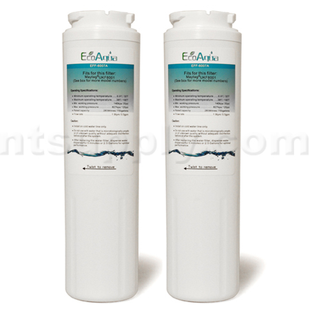 EcoAqua Replacement for UKF8001 Refrigerator Filter, 2-Pack