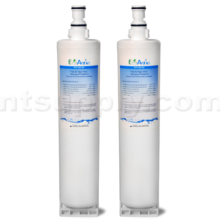 EcoAqua Replacement for Whirlpool 4396510 Filter, 2-Pack