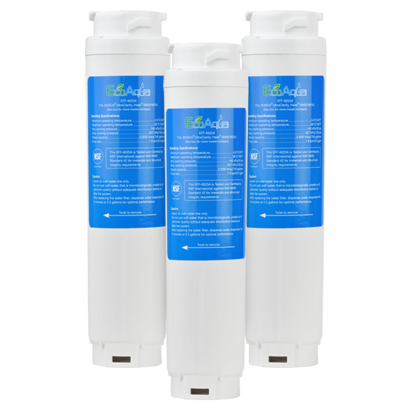 EcoAqua Replacement for Bosch 644845 Refrigerator Filter, 3-Pack
