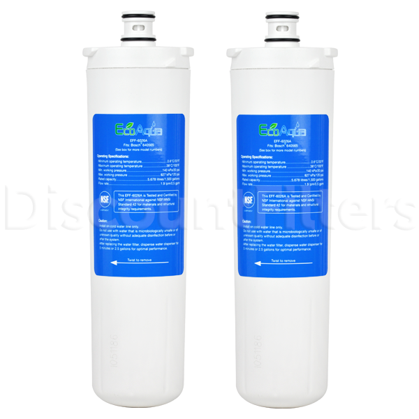 EcoAqua Replacement Filter for Bosch 640565 Refrigerator Filter, 3-Pack