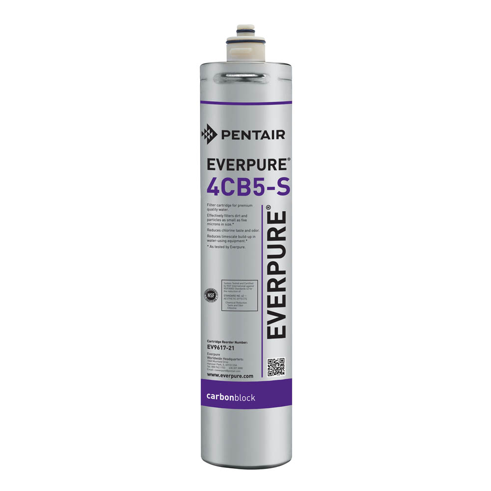 Everpure 4CB5-S Carbon Block Water Filtration Cartridge, 2-Pk
