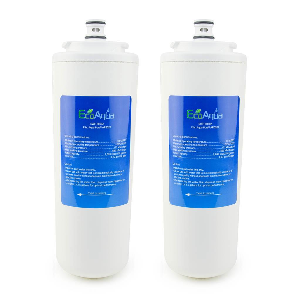 EcoAqua Replacement for Aqua-Pure® AP5527, 2-Pack
