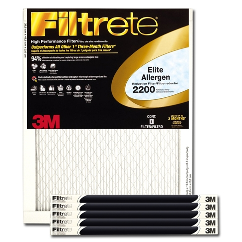 20 x 30 x 1 Filtrete Elite Allergen Reduction Filter - EA22DC-6