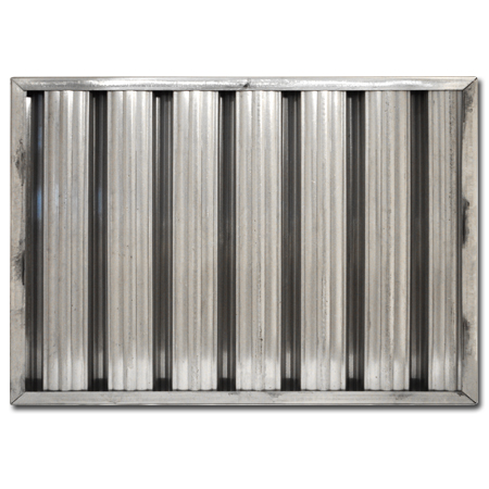 "16"" X 25"" X 2"" Aluminum Grease Baffle Filter"