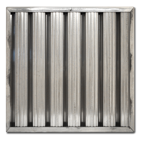 "20"" X 20"" X 2"" Aluminum Grease Baffle Filter"