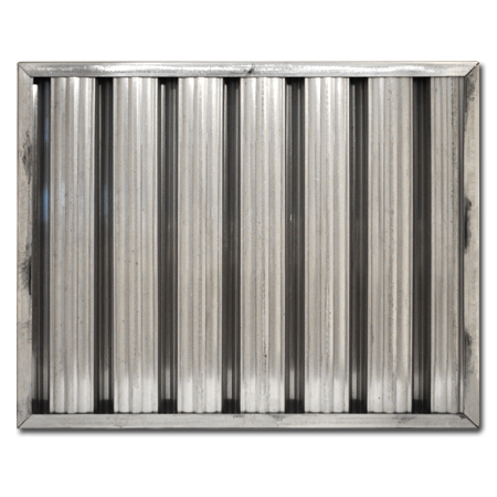 "20"" X 25"" X 2"" Stainless Steel Grease Baffle Filter"