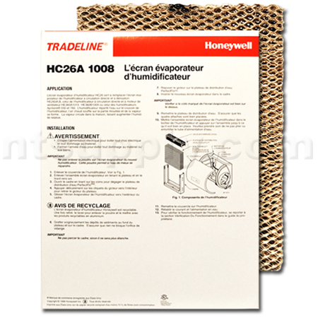 Honeywell HC26A 1008 Humidifier Pad, 2-Pack