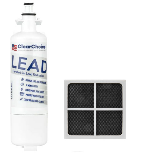 ClearChoice Replacement for LG LT700P Fridge Filter, Lead Reduction, 3-Pack