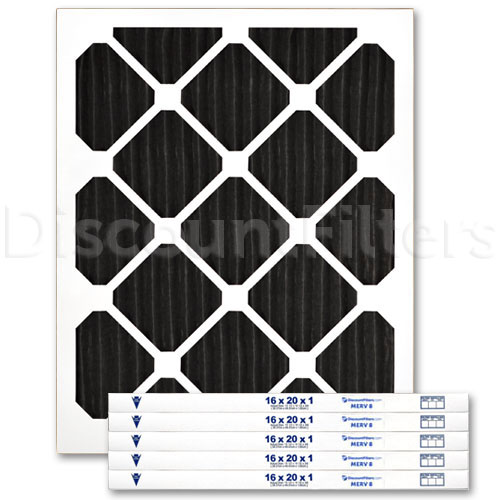 16 X 20 X 1 Carbon Odor Reduction Pleated Filter
