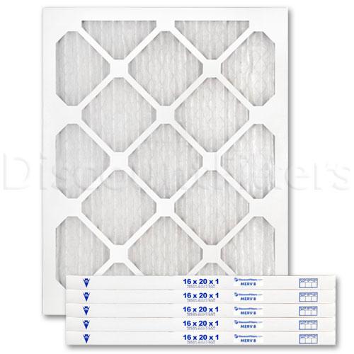 """16"""" X 20"""" X 1"""" MERV 8 Pleated Filter"""