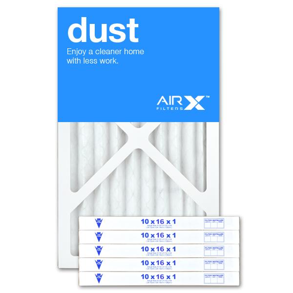 10x16x1 AIRx DUST Air Filter - MERV 8