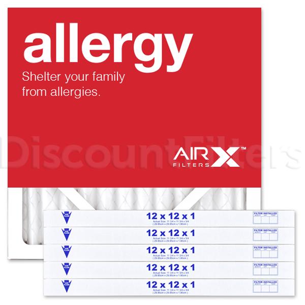 12x12x1 AIRx ALLERGY Air Filters - MERV 8