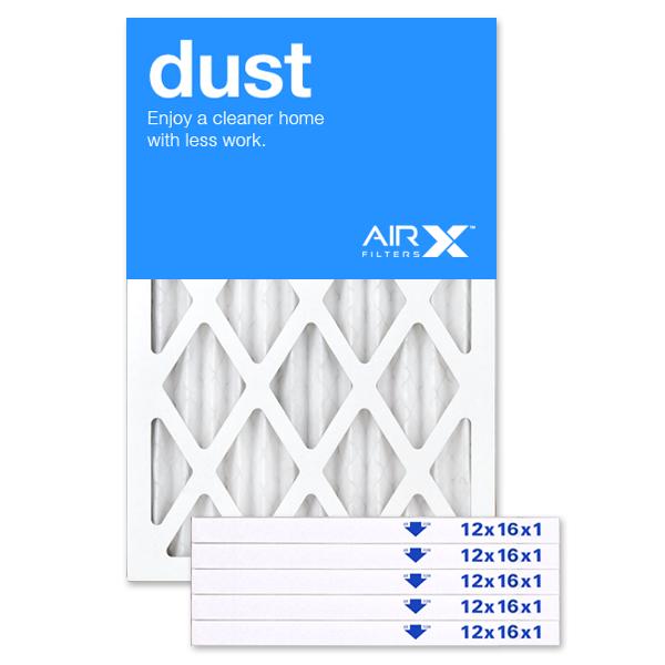 12x16x1 AIRx DUST Air Filter - MERV 8