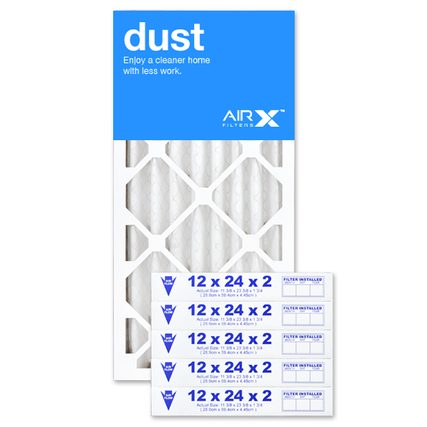 12x24x2 AIRx DUST Air Filter - MERV 8