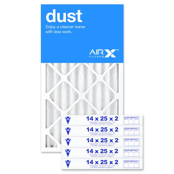 14x25x2 AIRx DUST Air Filter - MERV 8