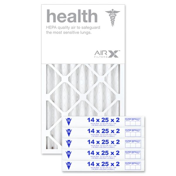 14x25x2 AIRx HEALTH Air Filter - MERV 13