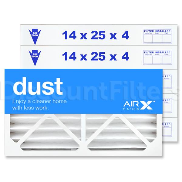 14x25x4 AIRx DUST Air Filter - MERV 8