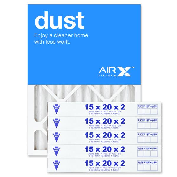 15x20x2 AIRx DUST Air Filter - MERV 8