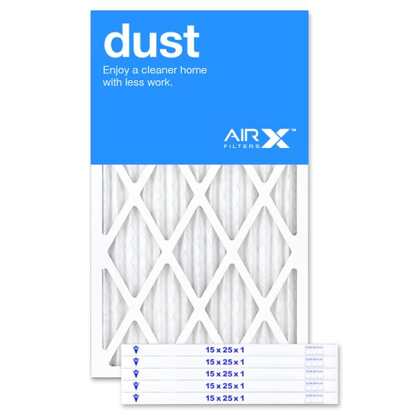 15x25x1 AIRx DUST Air Filter - MERV 8